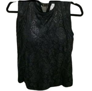 NWT Zara collection black lace shortsleeve